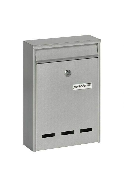 Poštni nabiralnik Portaferm PM 11 (7,5 x 21,5 x 31,5 cm, kovinski, srebrne barve)