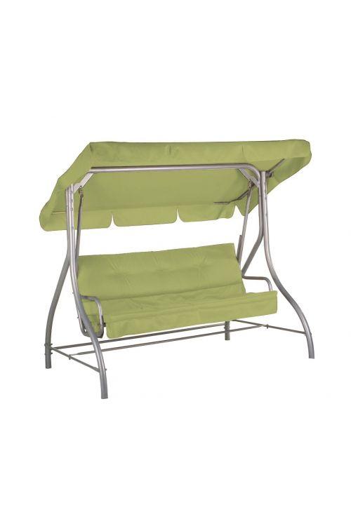 Gugalnica SUNFUN Hollywood  (d 197 x š 120 x v 167 cm, nosilnost do 240 kg, jekleno ogrodje, tekstilen, svetlo zelene barve)