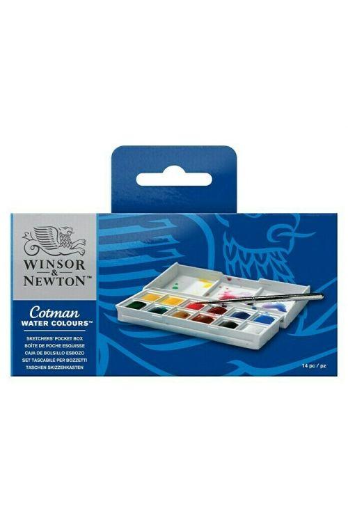 Set akvarelnih barv Winsor & Newton Cotman Set Sketcher's (12 posodic)