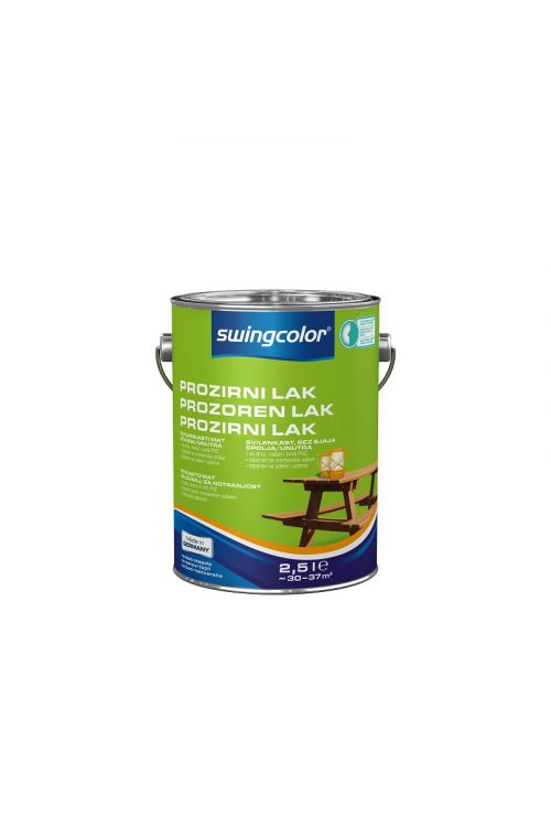 Prozorni lak SWINGCOLOR (svilenkasto mat; 2,5 l)