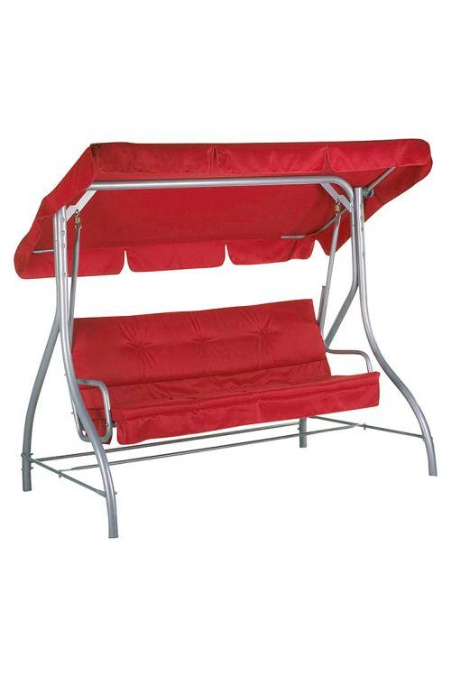 Gugalnica SUNFUN Hollywood  (d 197 x š 120 x v 167 cm, nosilnost do 240 kg, jekleno ogrodje, tekstilen, rdeče barve)
