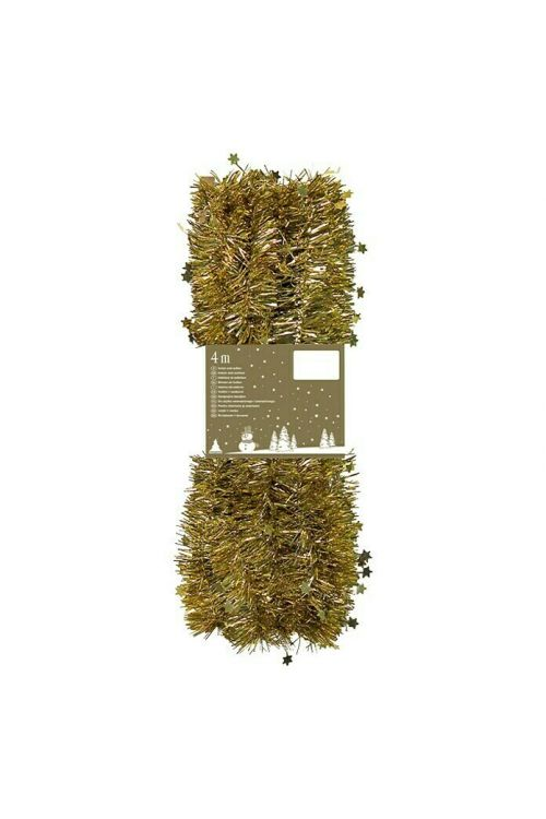 Girlanda z zvezdicami (dolžina: 4 cm, zlate barve)