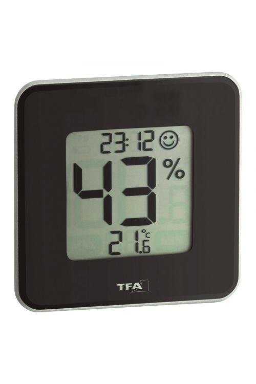 Termometer-higrometer TFA (digitalni, 10,5 cm, črni)