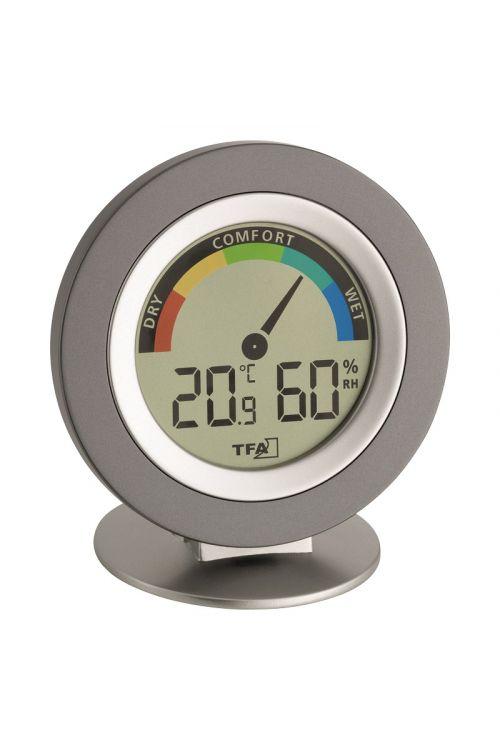 """Termometer-higrometer TFA """"Cozy"""" (digitalni, 10,4 cm, srebrni)"""
