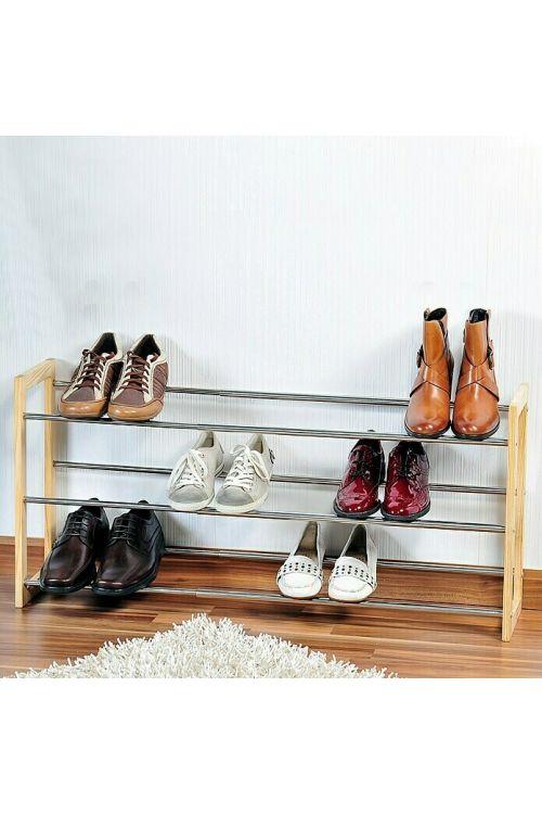 Stojalo za čevlje (46 x 22 cm, za pribl. 18 parov čevljev, razširljiv do 118 cm)