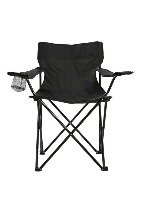 Stol za kampiranje (d 50 x š 50 x v 80 cm, kovinsko ogrodje, poliester, z držalom za pijačo, priročno shranjevanje v torbi)