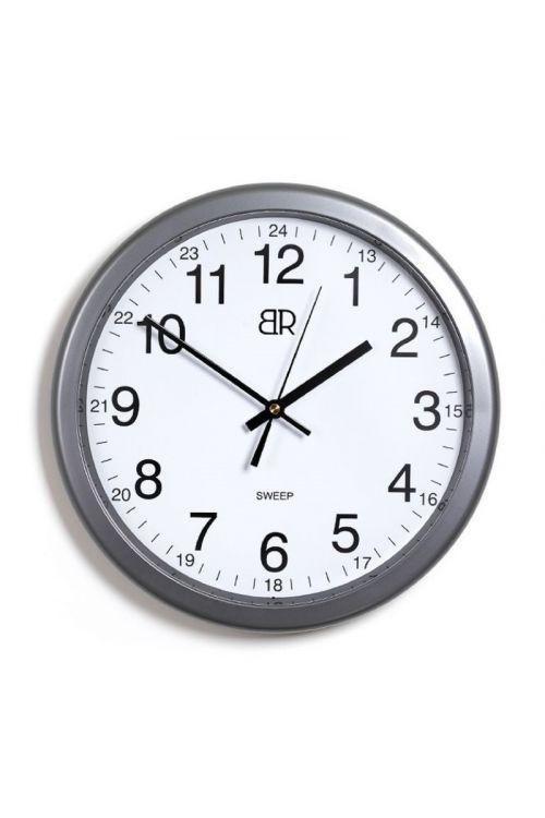 Stenska ura (srebrna, premer: 30 cm)