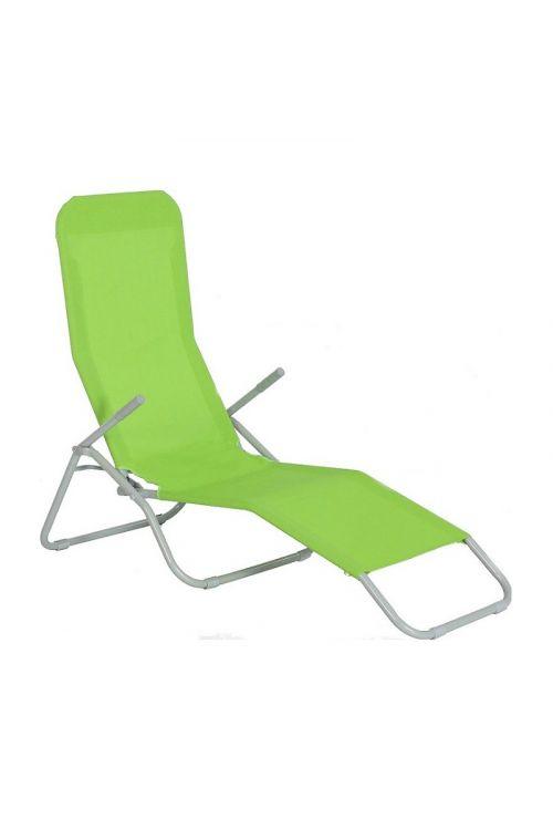 Ležalnik Sunfun Marissa (d 137 x š 63 x v 103 cm, aluminijasto ogrodje, tekstilen, zelene barve)