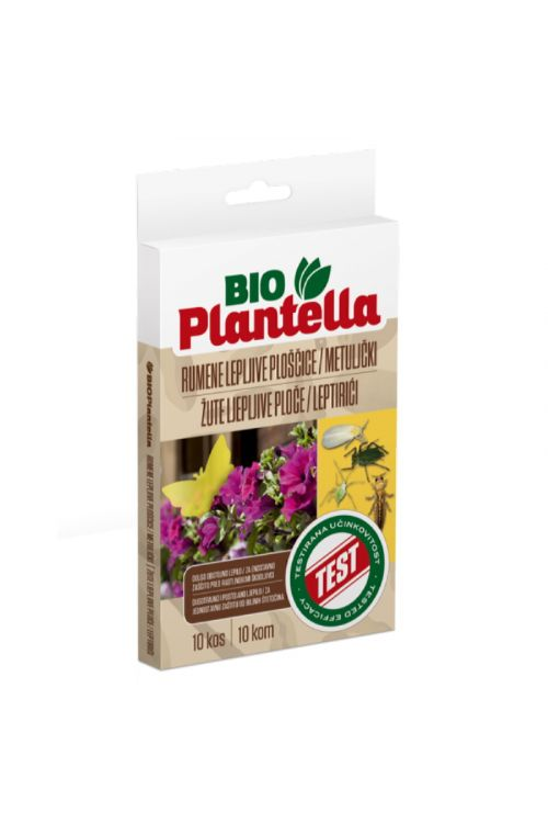 Rumene lepljive ploščice v obliki metulja Bio Plantella (10 kosov)