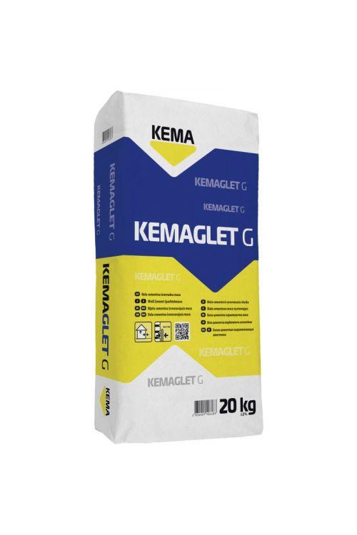 Cementna izravnalna masa KEMA Kemaglet G (20 kg, barva: bela)