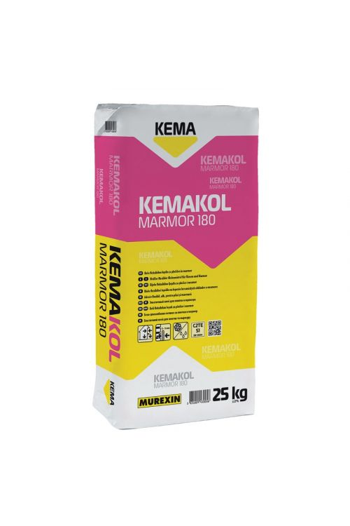 Lepilo za ploščice Kemakol Marmor 180 (belo flex lepilo za ploščice i marmor, 3-5 mm, 25 kg)_2