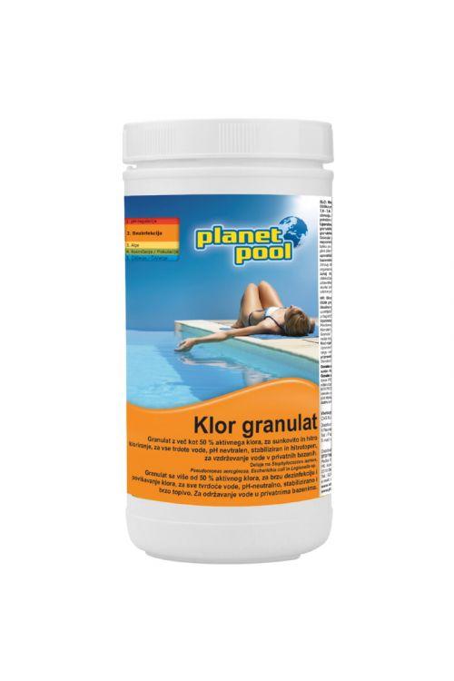Klor granulat Chemclor (hitrotopen, za sunkovito kloriranje vode, 50 % aktivnega klora,  1 kg)
