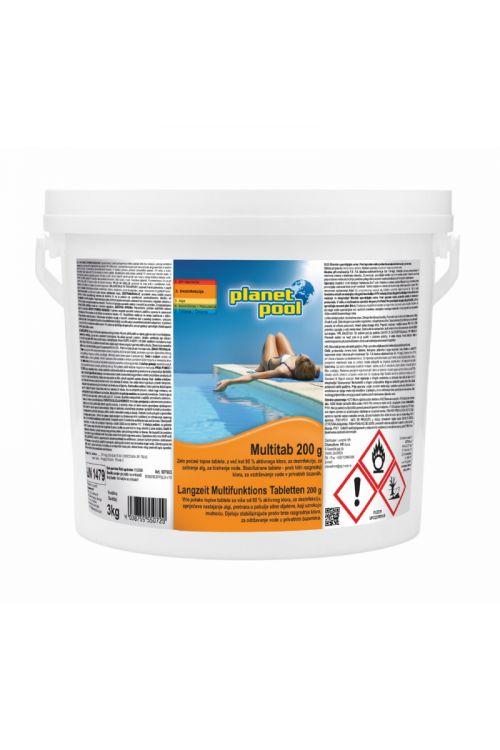 Počasitopne klorove tablete Multitab (za dezinfekcijo, zatiranje alg, bistrenje vode, 3 kg)