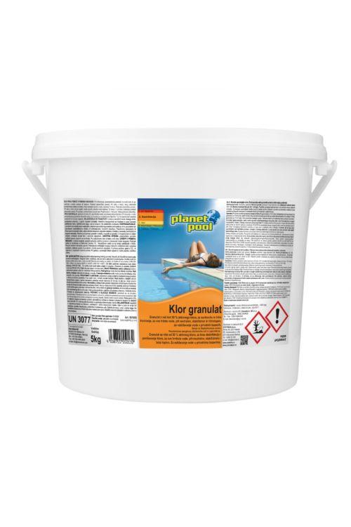 Hitrotopen klor granulat (za prvo ali sunkovito kloriranje, 5 kg)