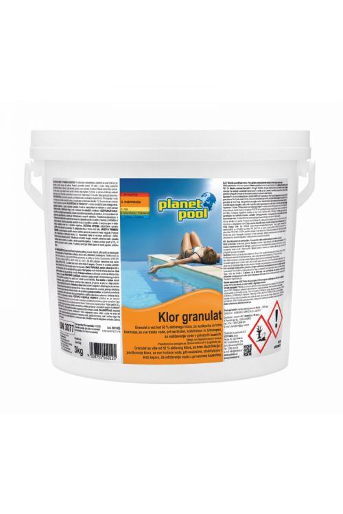 Hitrotopen klor granulat (za prvo ali sunkovito kloriranje, 3 kg)