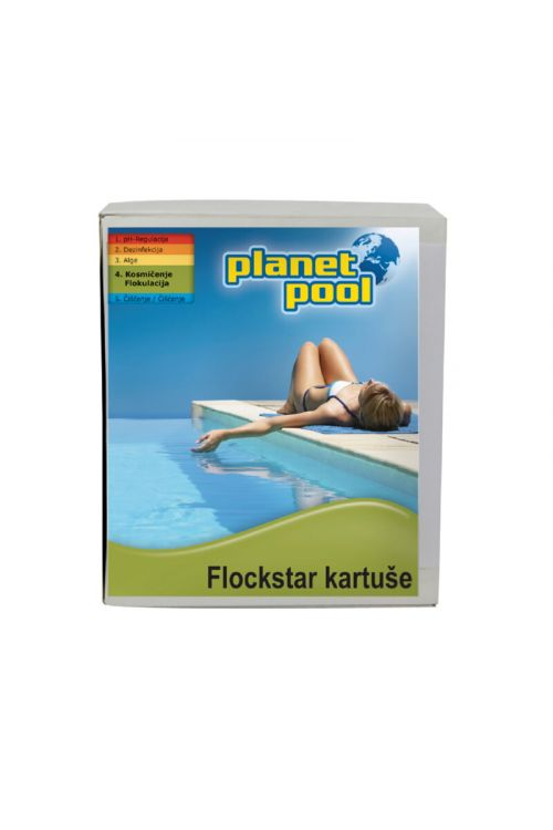 Kartuša Flockstar (odstranjuje motnost vode, za peščene filtre, 8 x 125 kg)