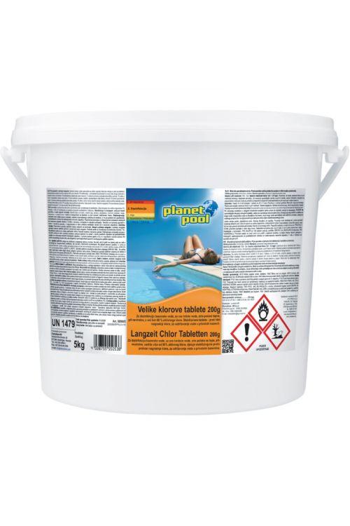 Počasitopne velike klorove tablete (dolgoročna dezinfekcija, 5 kg)