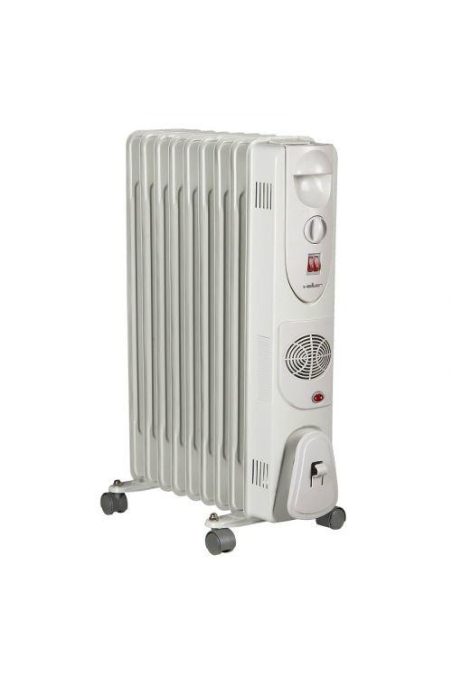 Električni oljni radiator HELLER HRO TURBO (2.000 W, število reber: 9, bel)
