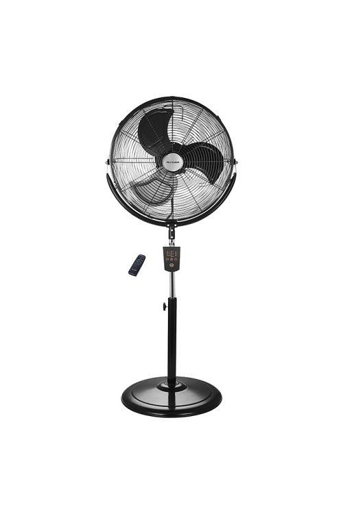 Stoječi ventilator Proklima (120 W, Ø 45 cm, višina 135 cm, z daljinskim upravljalnikom, črn)