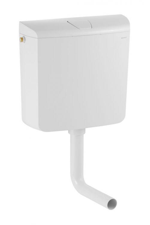 Kotliček Geberit AP110 Rio (bela, količina vode 6-9 l, stop tipka, nizka montaža, 39 x 41 x 13,5 cm)