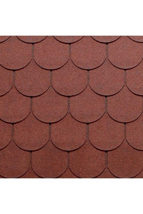 Bitumenska skodla Tegola Canadese (oblika bobrovca, 3,5 m², 24 kosov, rdeče barve)