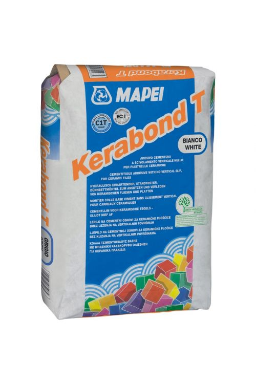 Lepilo za ploščice Mapei Kerabond T, belo (poraba: 2-5 kg/m², 25 kg)