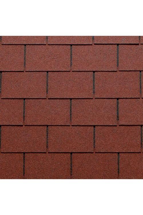 Bitumenska skodla Tegola Canadese (pravokotna, 3,5 m², 24 kosov, rdeče barve)