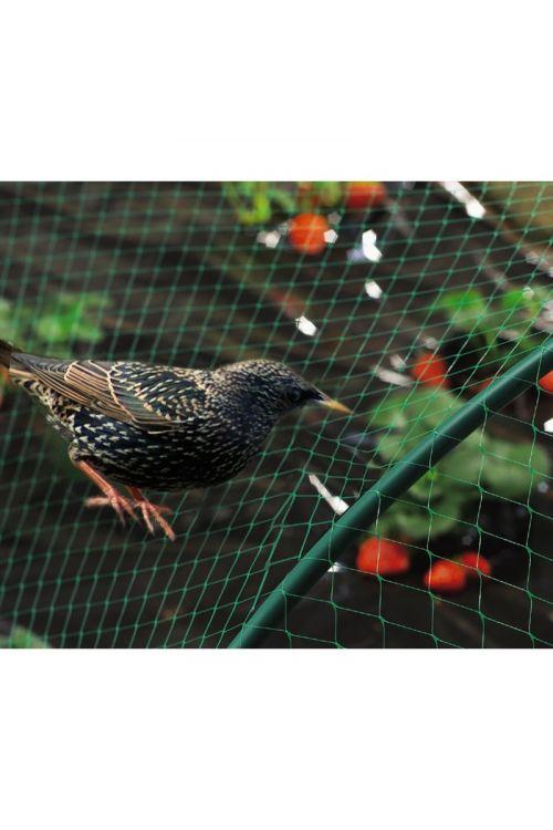 Mreža za zaščito pred pticami Nortene Birdnet (2 x 5 m, zelena)