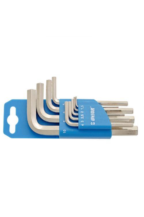 Set imbus ključev UNIOR na plastičnem obešalu (9-delni)
