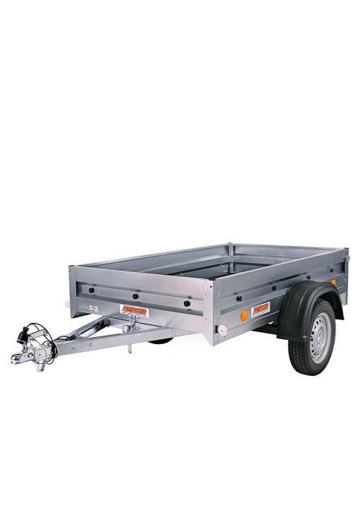 Avtomobilska prikolica PRATIK 7-202 (notranje mere: 202 x 114 x 30 cm, nosilnost: do 750 kg)