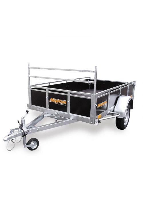 Avtomobilska prikolica Trailwood GN078 (notranje mere: 202 x 125 x 35 cm, ojnica 1 x 750 kg, nosilnost: do 590 kg)