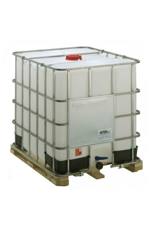 Cisterna za vodo (1.055 l, g 120 x š 100 x v 116 cm, primerna tudi za ostale tekočine, HDPE, kovinsko ogrodje)