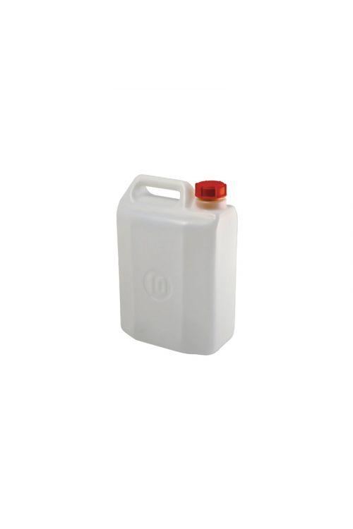 Kanister 10 l (10 l, primeren za shranjevanje pijače, bele barve)