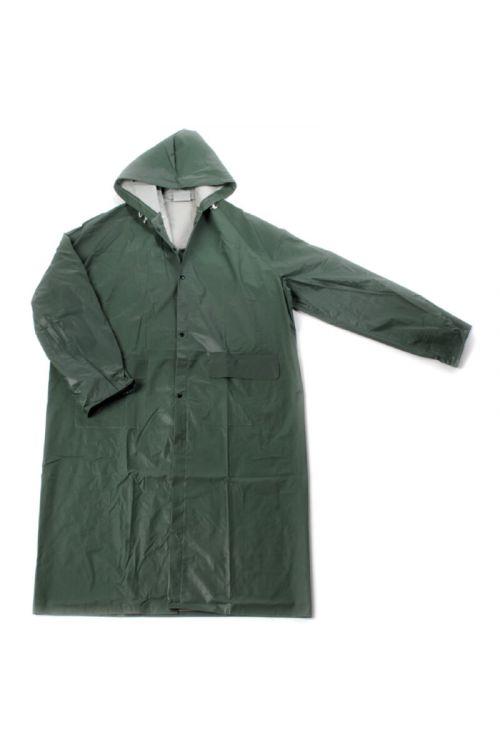 Dežni plašč Rainy (XL, zelene barve, PVC)