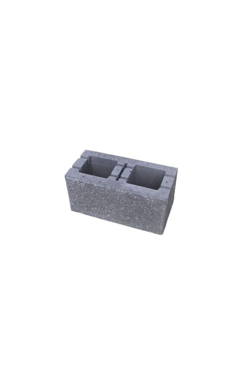 Enostranski lomljen zidak (200 x 400 x 190 mm, sivi)