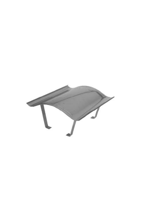 Streha dimnika Omega (18-20 cm, nerjaveča pločevina)