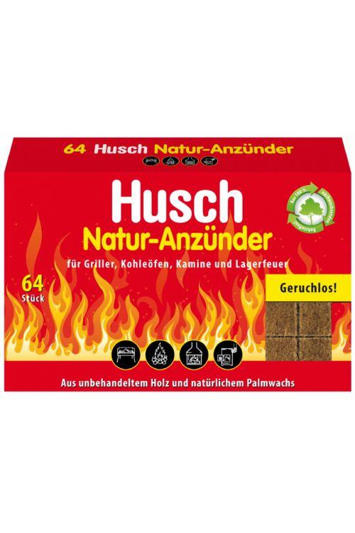 Kocke za prižiganje Husch (64/1, natur)