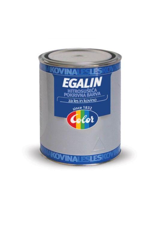 Pokrivna barva EGALIN EMAJL bela mat (750 ml, hitrosušeča, za zaščito kovinskih površin, za notranjo in zunanjo uporabo)