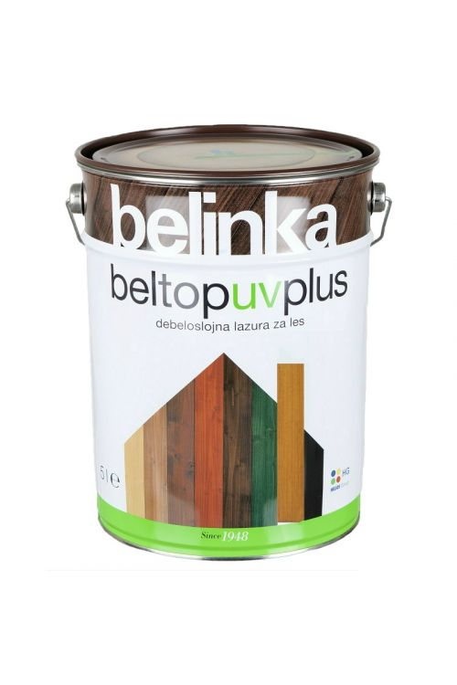 Debeloslojna lazura za les BELTOP S UV PLUS bor (5 l za zaščito lesa izpostavljenega močnim vremenskim vplivom)_2
