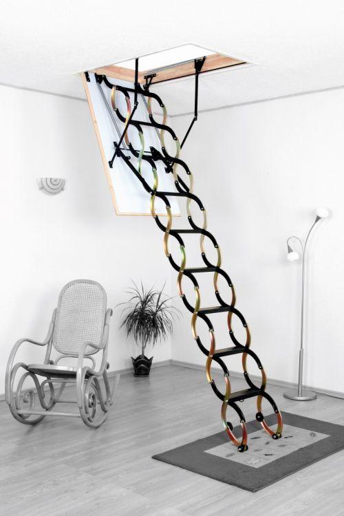 Podstrešne stopnice Meisterholz Termo (1100 x 700 mm, plošča 26 mm, etažna višina do 290 cm, nosilnost do 150 kg, 1,3 W/m²K)