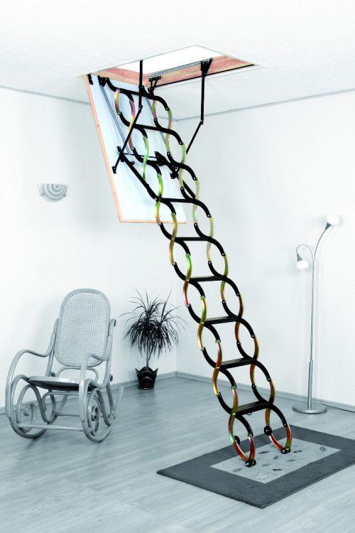 Podstrešne stopnice Meisterholz Termo (1200 x 700 mm, plošča 26 mm, etažna višina do 290 cm, nosilnost do 150 kg, 1,3 W/m²K)