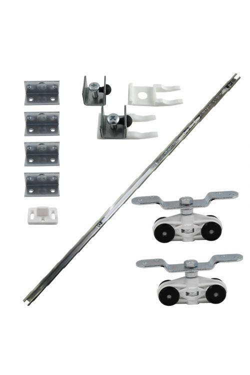 Vodilo za drsna vrata (material: aluminij, 1,3 m, 70 kg)