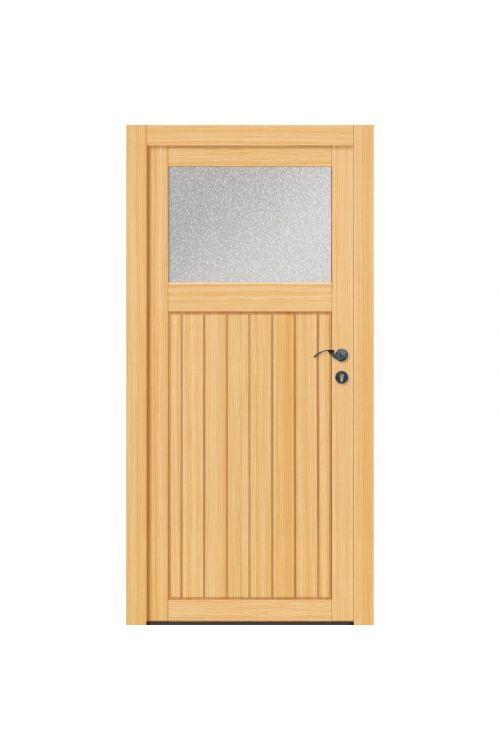 Stranska vhodna vrata, lesena (1980 x 980 mm, smreka, desna)
