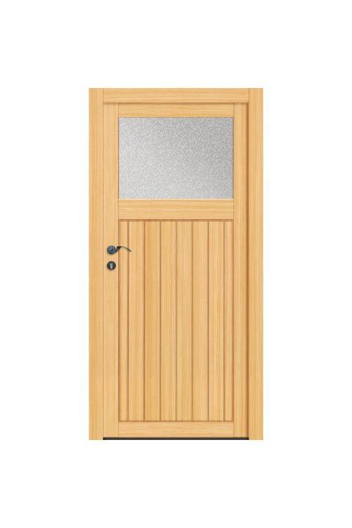 Stranska vhodna vrata, lesena (1980 x 980 mm, smreka, leva)