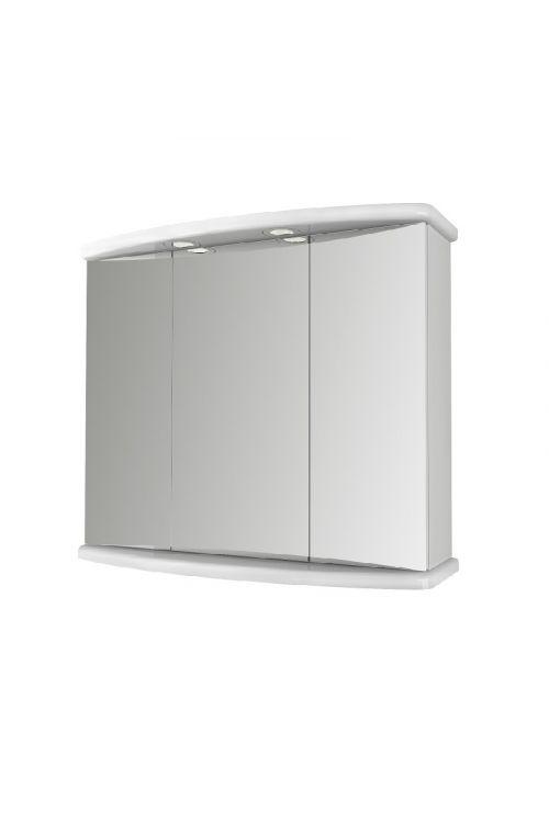 Omarica z ogledalom Ascoli (77,3 x 65,5 x 25 cm, bela, sijaj, LED)