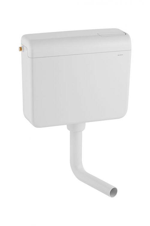 Kotliček Geberit AP112 Fontana (bela, količina vode 6-9 l, stop tipka, nizka ali visoka montaža, 34,5 x 42 x 14 cm)