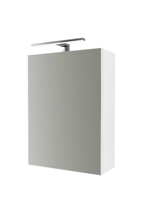 Omarica z ogledalom Aosta (60 x 45 x 26 cm, bela, LED)