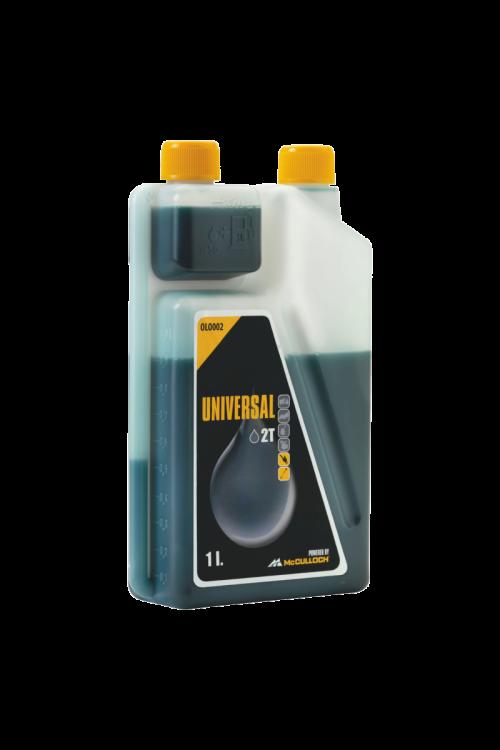 Univerzalno olje za 2-taktne motorje McCulloch OLO002  (1 l, v dozirni posodi, za motorne žage, kosilnice, trimerje)