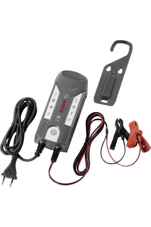 Polnilec akumulatorjev BOSCH C3 (6V/12V, za akumulatorje 1,2–120 Ah)