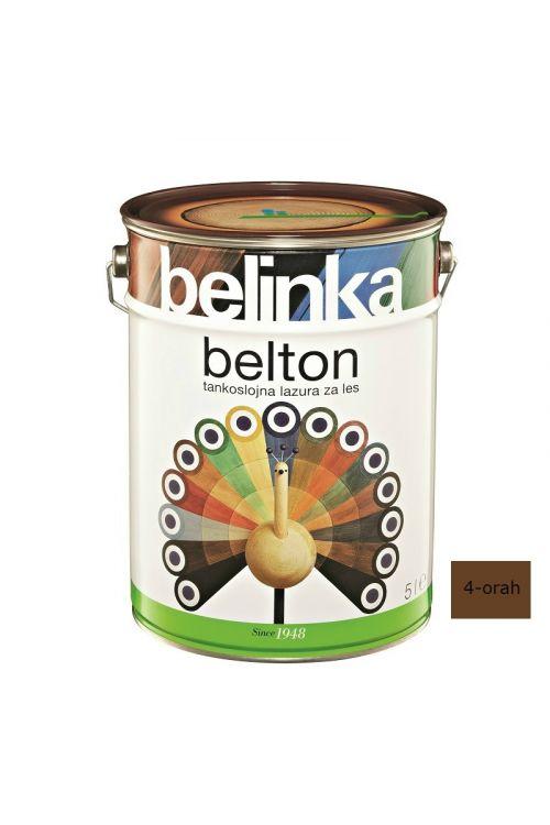 Tankoslojna lazura za les BELTON 4 oreh (5 l, zaščita pred vremenskimi vplivi, za notranjo in zunanjo uporabo)